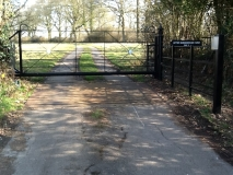 <h5>Gate Automation - 16</h5><p>Cantilever Sliding Gate, refurbished and powder coated in West Sussex</p>