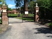 <h5>Gate Automation -22</h5><p>Black wrought iron automated gates for private estate</p>