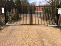 <h5>Entrance Gates</h5><p>Wrought iron gates</p>